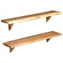 Półki ścienne, 2 szt., 90 x 20 x 16 cm, lite drewno akacjowe