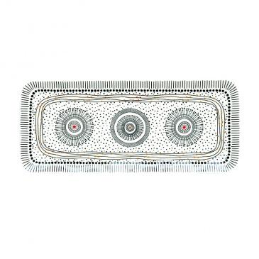Półmisek z porcelany 36x16 cm Nuova R2S Organic