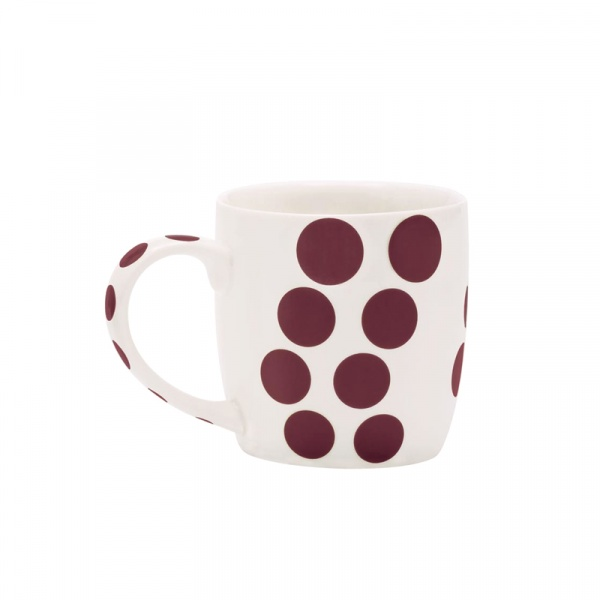 Porcelanowy kubek 0,35 l Zak! Designs Dot kasztanowy 2239-1590