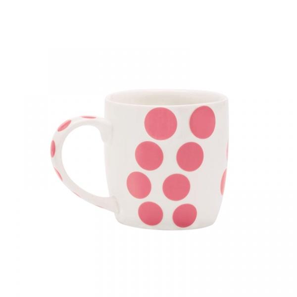 Porcelanowy kubek 0,35 l Zak! Designs Dot różowy 2179-1590
