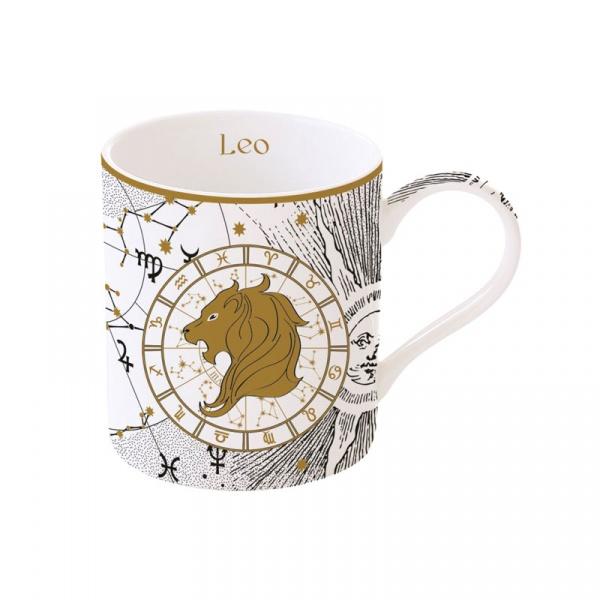 Porcelanowy kubek Lew 350ml Nuova R2S Zodiac 282 ZOLE