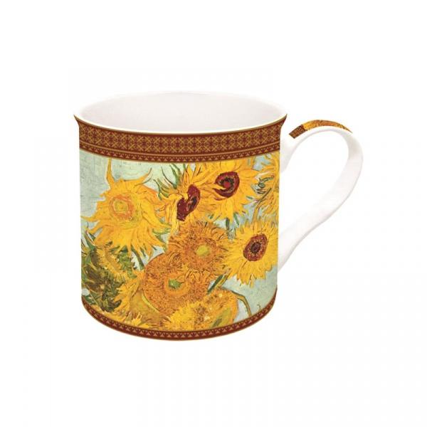 Porcelanowy kubek w opakowaniu 300ml Nuova R2S Art Masterpiece słoneczniki 170 VAN1