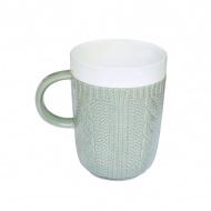 Porcelanowy kubek w opakowaniu Nuova R2S Wool szary