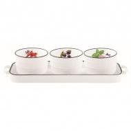 Porcelanowy zestaw na przystawki Nuova R2S Kitchen Basics