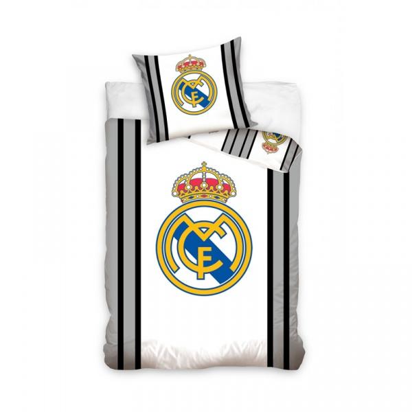 Pościel 160 x 200 cm Carbotex Real Madrid godło RM8028