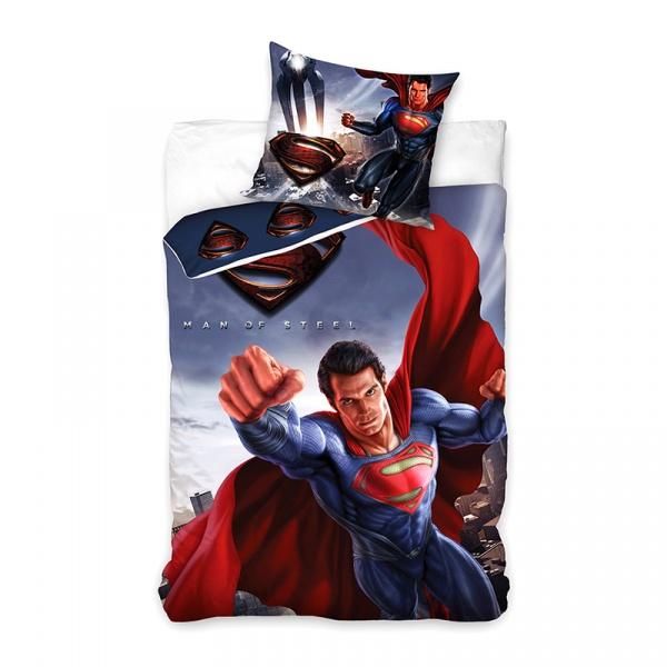 Pościel 160x200 Carbotex Superman Człowiek ze stali SUP8002