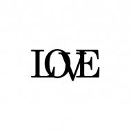 Próbka napisu 3D dekoracyjnego na ścianę LOVE DekoSign