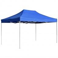 Profesjonalny, składany namiot imprezowy, 4,5 x 3 m, niebieski