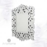 Prostokątne lustro dekoracyjne w ażurowej ramie lustrzanej Eurydyka 120x80cm
