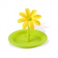 Przykrywka silikonowa kwiat Vialli Design Livio zielona/żółta