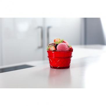 Pucharek deserowy 266 ml czerwony Livio
