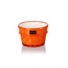 Pucharek deserowy 266 ml pomarańczowy Livio