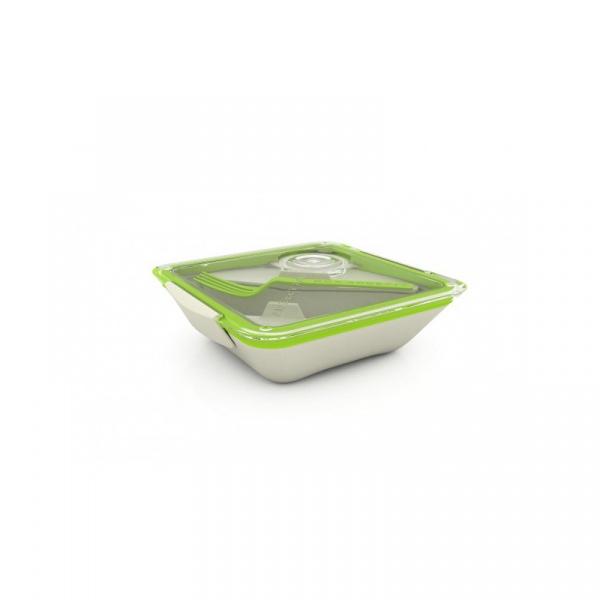 Pudełko na lunch Black+Blum Bon Appetit biało-zielone BA001