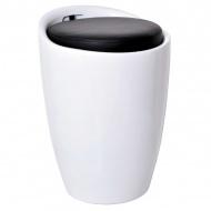 Pufa z pojemnikiem 51cm Malaga Gockowiak czarno-biała