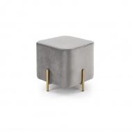 Pufka Ekskluzywna Cube gold/light grey
