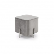 Pufka Ekskluzywna Cube silver/light grey