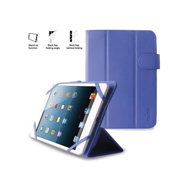 PURO Universal Booklet Easy - Etui tablet 7'' w/Folding back + stand up + Magnetic Closure (granatow UNIBOOKEASY7BLUE