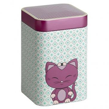 Puszka na herbatę 100g Eigenart Kitty ciemny róż