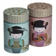 Puszka na herbatę 150g New Little Geisha różowa 75117