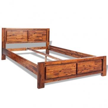 Rama łóżka Z Litego Drewna Akacjowego 180x200 Cm Brązowa