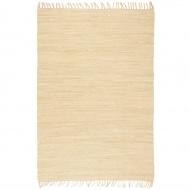 Ręcznie tkany dywanik Chindi, bawełna, 200x290 cm, kremowy