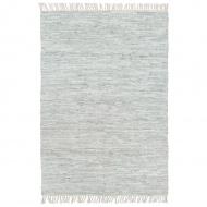 Ręcznie tkany dywanik Chindi, skórzany, 190x280 cm, jasnoszary