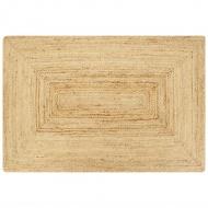 Ręcznie wykonany dywan, juta, naturalny, 160x230 cm