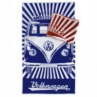 Ręcznik plażowy 160x90 cm BRISA VW BUS niebieski