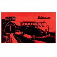 Ręcznik plażowy HIGHWAY 160x90 cm BRISA VW BUS czerwony