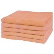 Ręczniki, 5 szt., bawełna 360 g/m², 100x150 cm, brzoskwiniowe