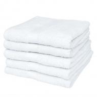 Ręczniki kąpielowe, 5 szt, bawełna, 500 g/m², 100x150 cm, białe