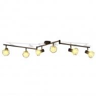 Reflektor sufitowy w industrialnym stylu z 6 żarówkami LED