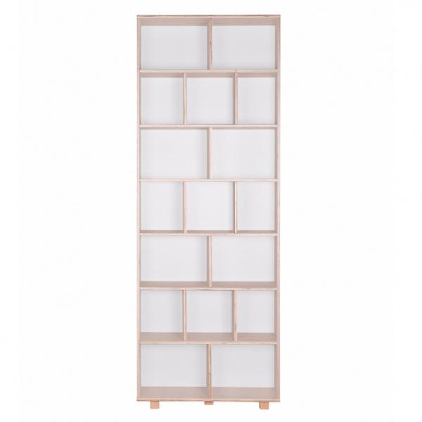 Regał 215x80 Durbas Style Kółko Krzyżyk biały DUS800