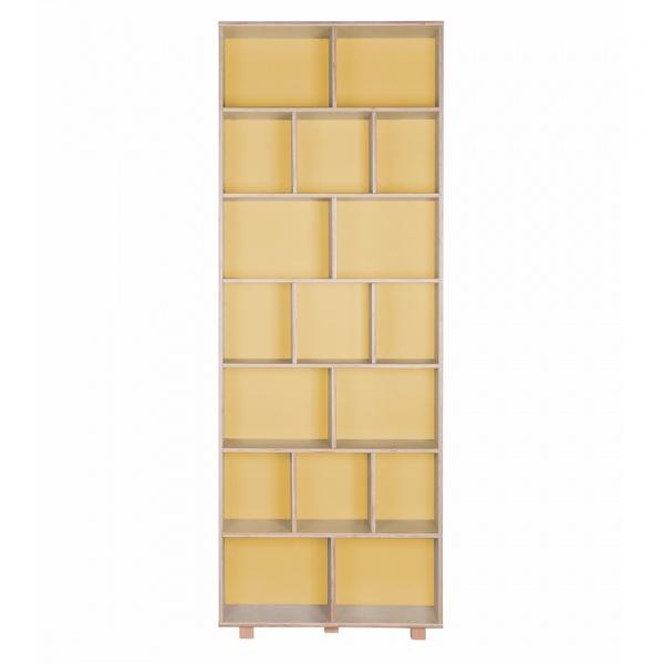 Regał 215x80 Durbas Style Kółko Krzyżyk żółty DUS807