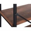 Regał 3 półki ciemne drewno BRISBANE