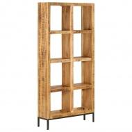 Regał na książki, 80x25x175 cm, lite drewno mango