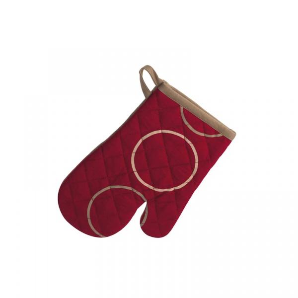 Rękawica do gorących naczyń Kela Points ciemnoczerwona KE-15580