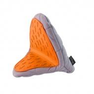 Rękawica kuchenna Vialli Design Livio szaro - pomarańczowa