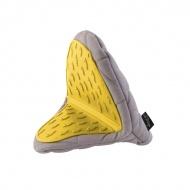 Rękawica kuchenna Vialli Design Livio szaro - żółta