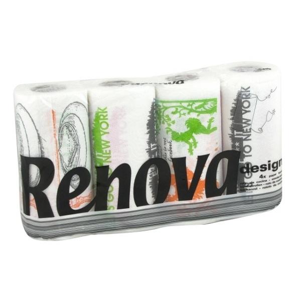 RENOVA 4szt. Design Ręcznik papierowy 5601028012775