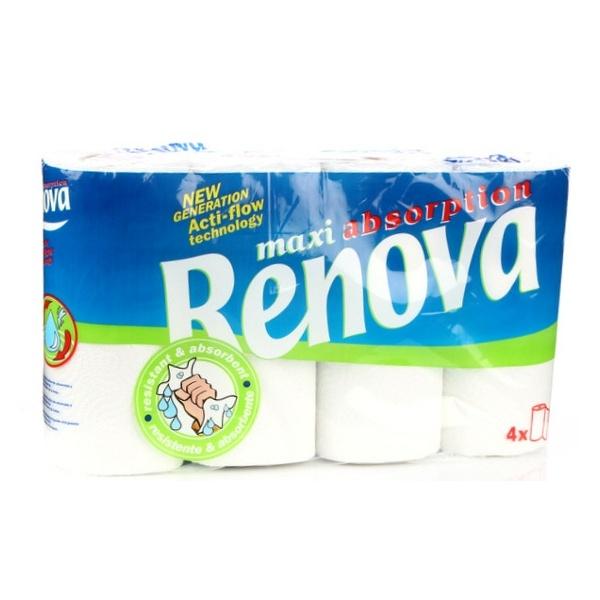 RENOVA 4szt. Maxi Absorption Ręcznik papierowy 5601028000574