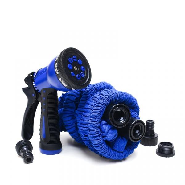 Rozciągliwy wąż ogrodowy 30 m Xhose + pistolet niebieski 3E5A-93884-30