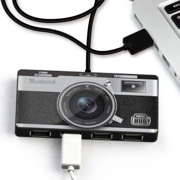 Rozdzielacz USB Super Hub Camera Mustard aparat