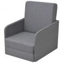 Rozkładany fotel tapicerowany 59,5x72x72,5 cm jasny szary