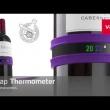 Samozaciskowy termometr na butelkę Vacu Vin grafitowy VV-3630360