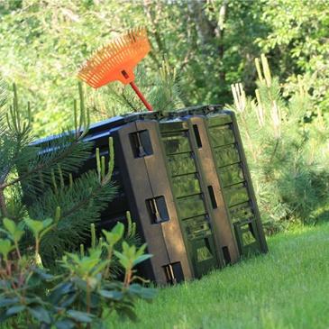 Segmentowy kompostownik Compogreen 800 L czarny