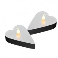 Serce LED na baterie 6szt Sirius Marianna srebrny