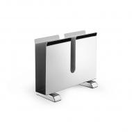 Serwetnik 16,5x12,8x6cm Zack Collo srebrny