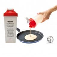 Shaker do naleśników 22cm MOHA Crepe Shaker biało-czerwony