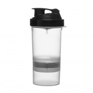 Shaker na siłownię z przegrodami 400 ml Sagaform wielobarwny